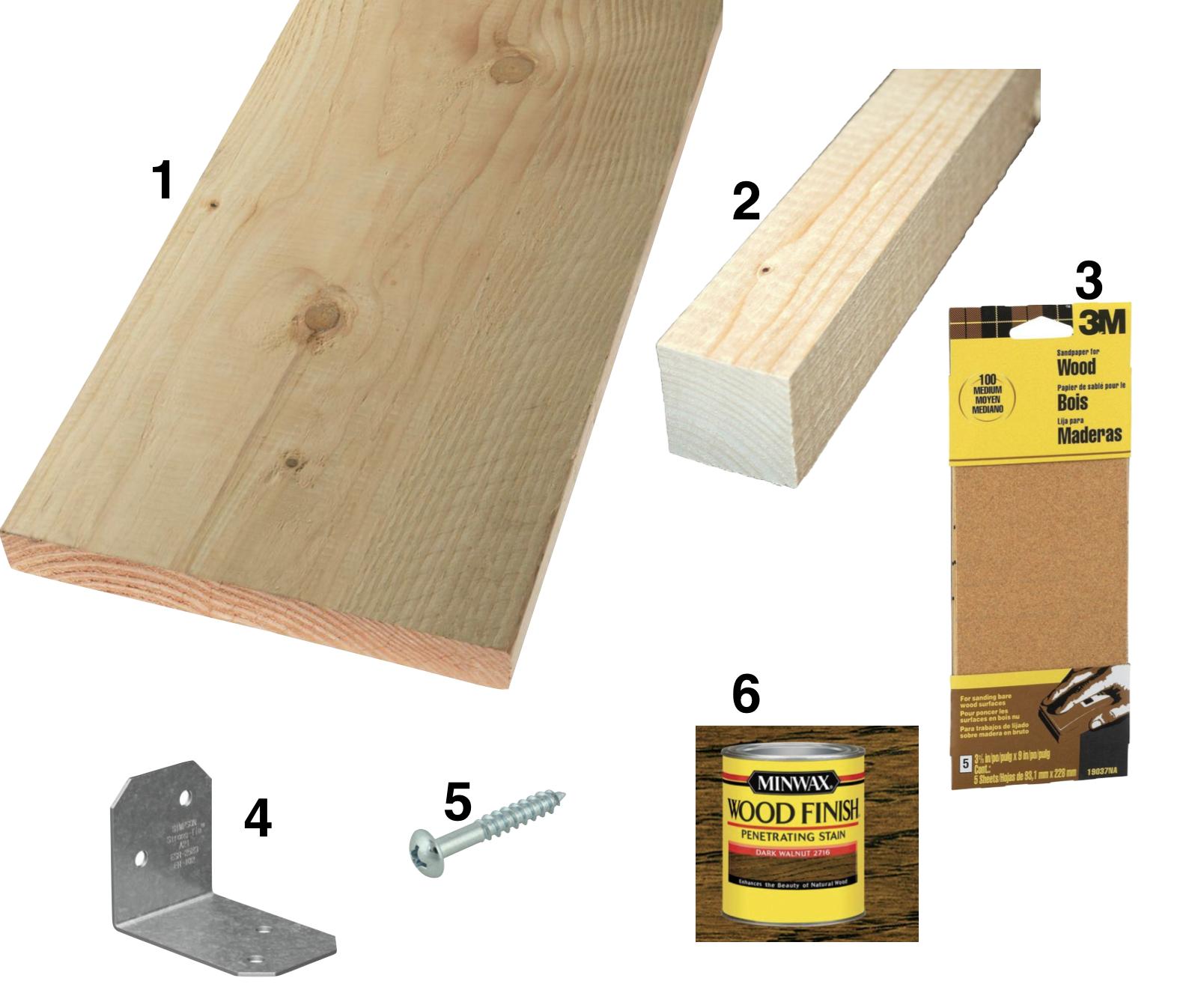 DIY wood bench supplies