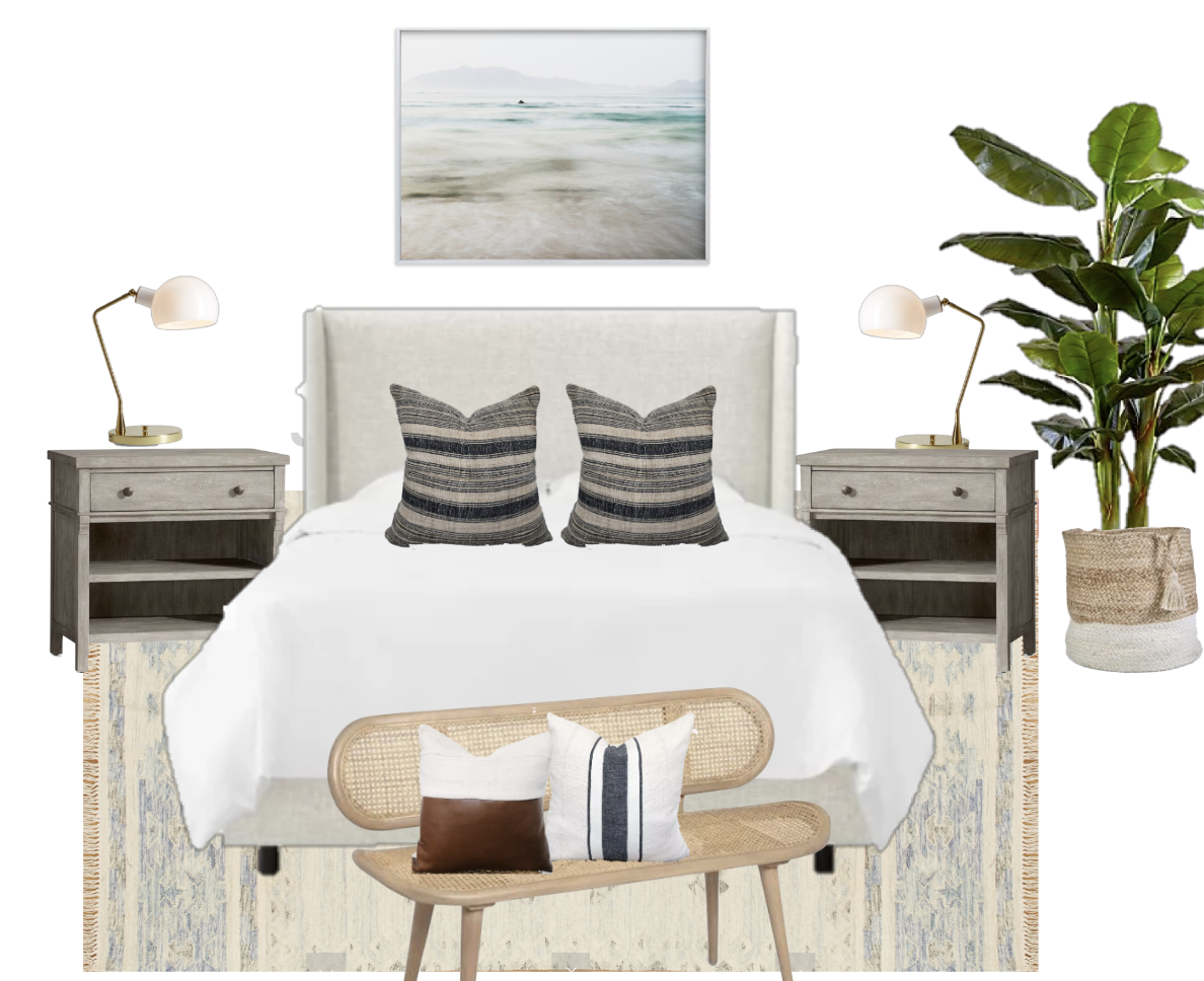 Beachy Modern Bedroom Design