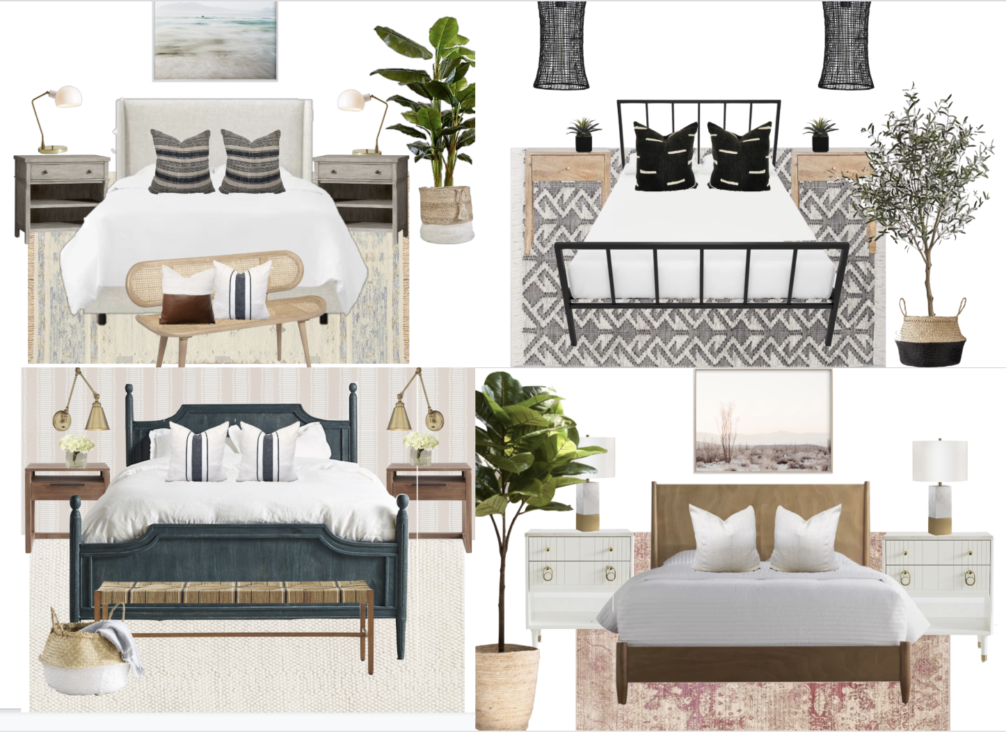 Four Attainable Bedroom Designs