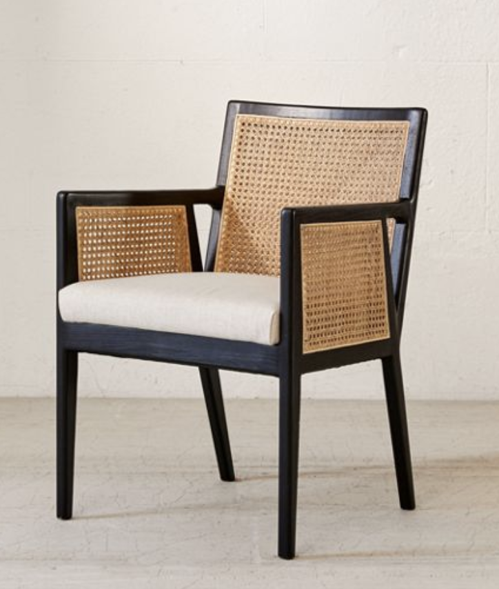 black cane chair
