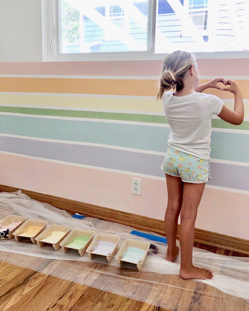 Rainbow Wall DIY | Kristin Dion Design