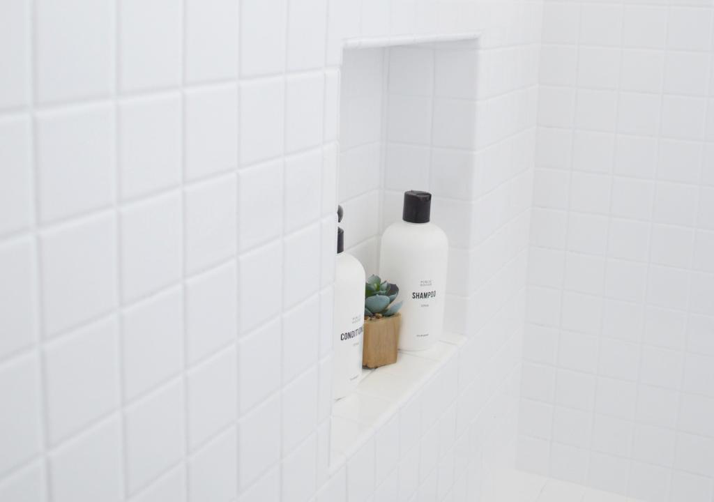 Kristin Dion Design DIY Bathroom Remodel After Photo Tile Glaze