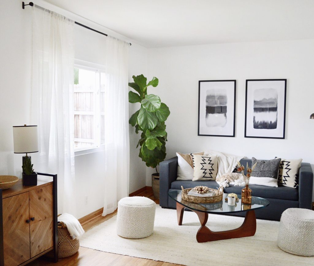 elevate a window with curtains
