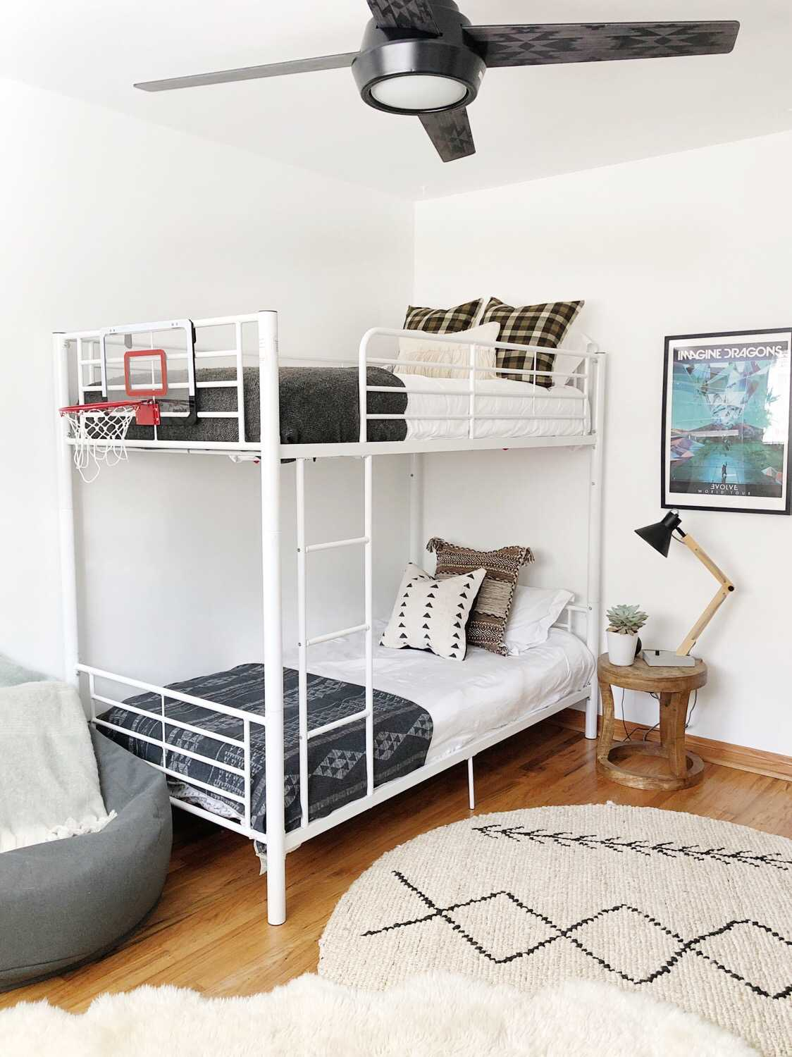 big kid room design ideas with bunk beds