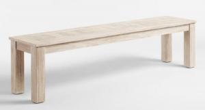 whitewash bench