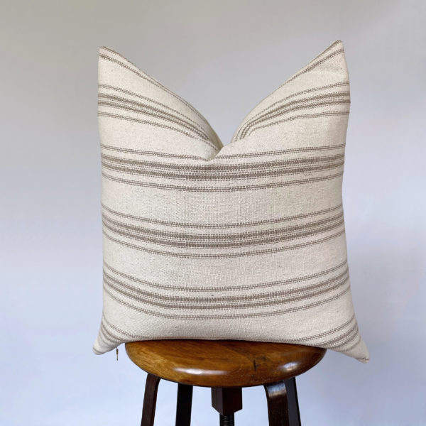 vintage grain sack pillow