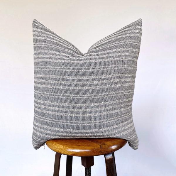 vintage gray throw pillow