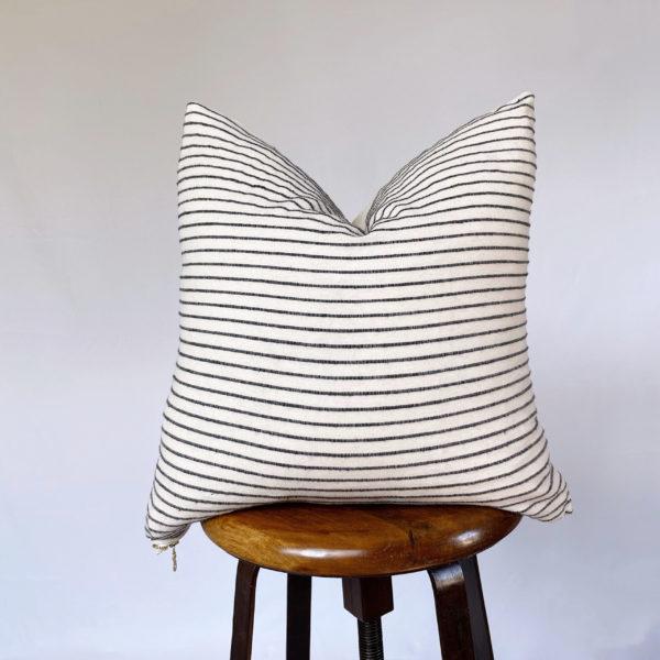 vintage black and white throw pillow