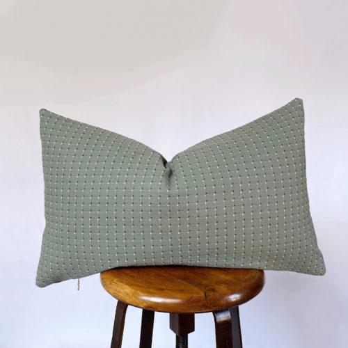 vintage green lumbar throw pillow