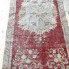 red vintage rug