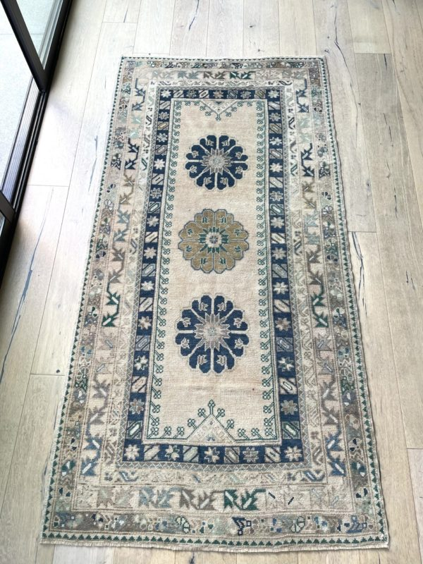 blue vintage rug