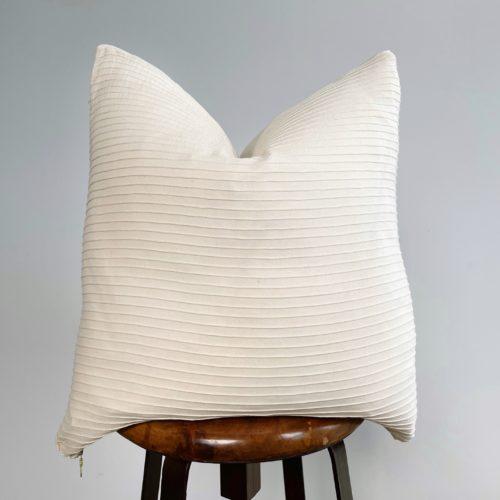 white handmade pillow