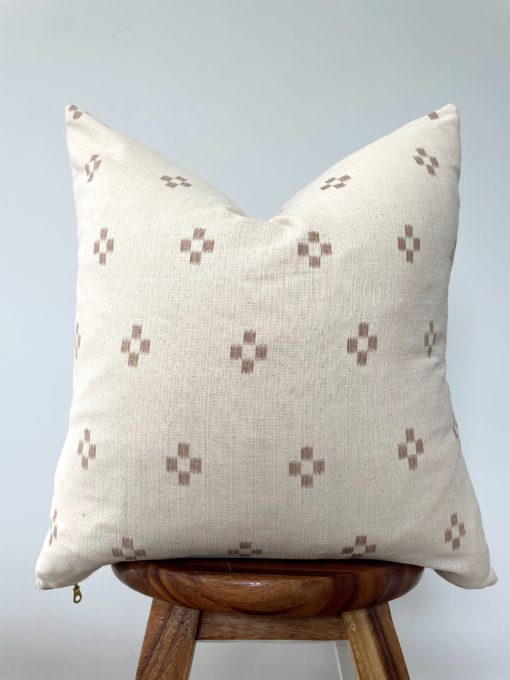 patterned neutral pillow cover