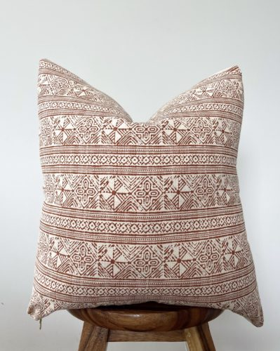 gorgeous cotton batik rust pillow cover