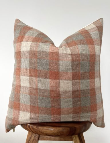 plaid wool vintage pillow cover
